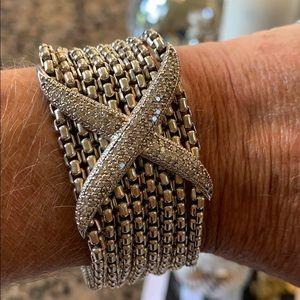 DAVID YURMAN SS and Large Diamond X Bracelet